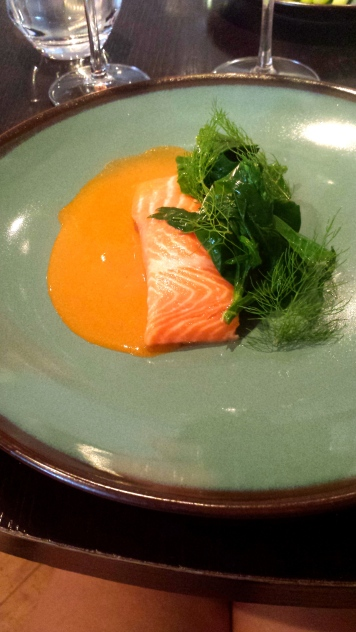 Sea Trout with Seashore Vegtables