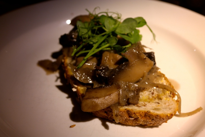 Roasted Portobello Mushrooms on Toast with Stilton