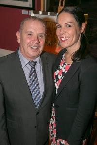 John Lloyd and Nicola Underhill