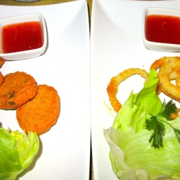 Fishcakes and Calamari