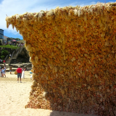 A wave made from Barbies!