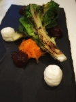 Grilled baby gem lettuce, butternut, medjool dates and ricotta