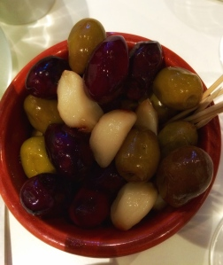 Smoked Olives and Garlic